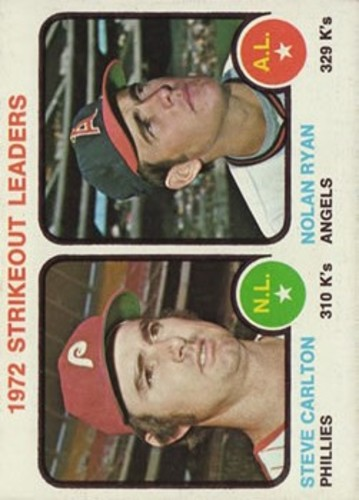 Photo of 1973 Topps #67 Strikeout Leaders/Steve Carlton/Nolan Ryan