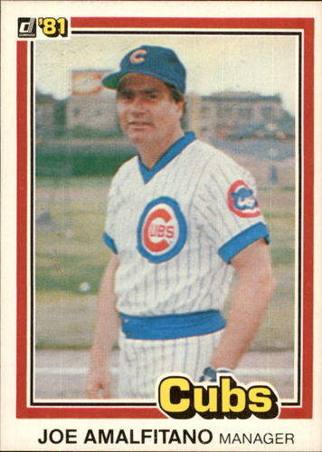 Photo of 1981 Donruss #522 Joe Amalfitano MG