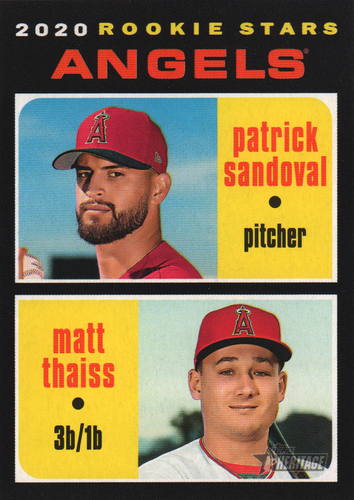 Photo of 2020 Topps Heritage #152 Matt Thaiss RC/Patrick Sandoval RC
