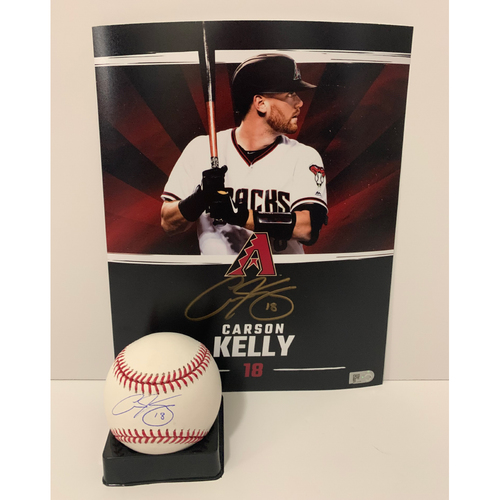 Photo of Carson Kelly Autographed 8x10 and Ball