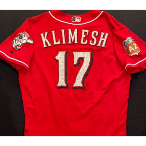 Photo of KLIMESH -- Authentic Reds Jersey -- $1 Jersey Auction -- $5 Shipping -- Size 46 (Not MLB Authenticated)