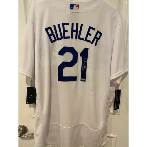Photo of Walker Buehler Authentic Autographed Los Angeles Dodgers Jersey
