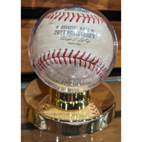 Photo of 2013 ALCS Game 6 Detroit Tigers at Boston Red Sox October 19, 2013 Game Used Baseball - Clay Buchholz Warm-Up