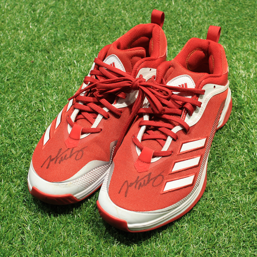 Photo of Game-Used & Autographed Trainer Shoes: John Mabry #47 (DET @ KC 5/23/21) - Size 11 1/2