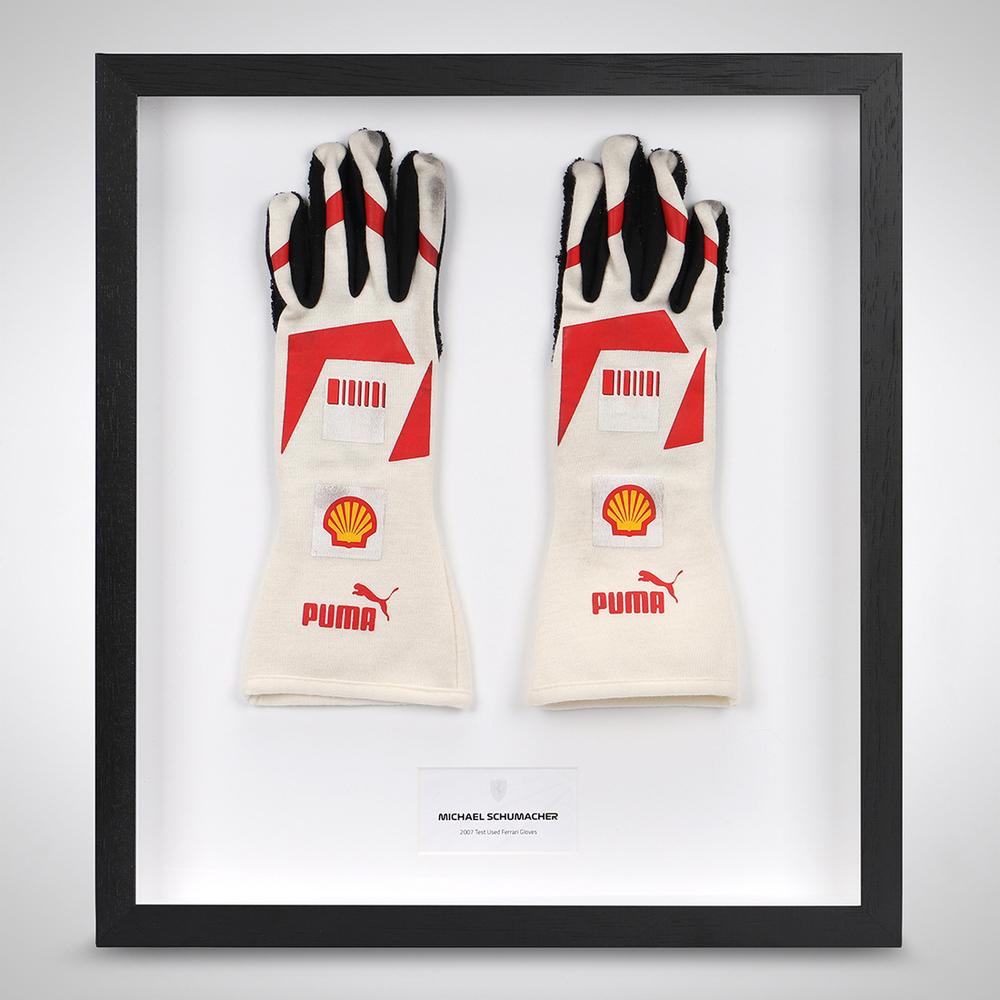 Michael Schumacher 2007 Test Used Ferrari Gloves