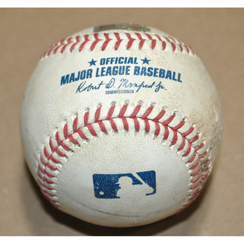 Photo of Game-Used Baseball - 2020 NLCS Game 1 - Atlanta Braves vs. Los Angeles Dodgers - Batter: Ronald Acuna Jr., Pitcher: Blake Treinen, Foul, Top 9