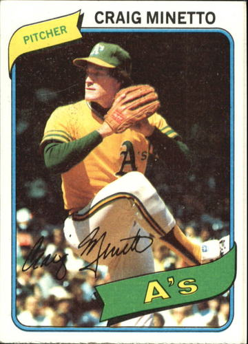 Photo of 1980 Topps #494 Craig Minetto RC