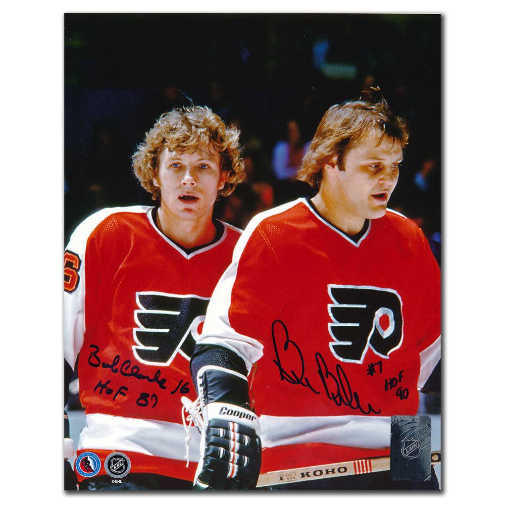 Bobby Clarke & Bill Barber Philadelphia Flyers HOF Dual Autographed 8x10