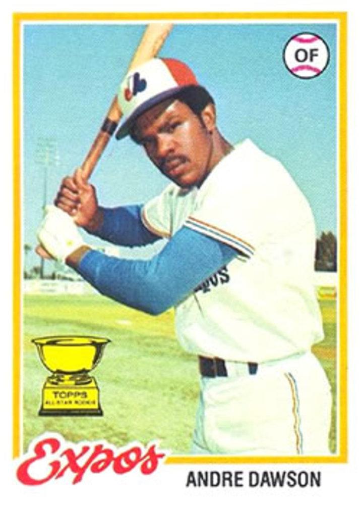 1978 Topps #72 Andre Dawson -- Hall of Famer