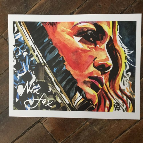 Photo of Nia Jax SIGNED 11 x 14 Rob Schamberger Print