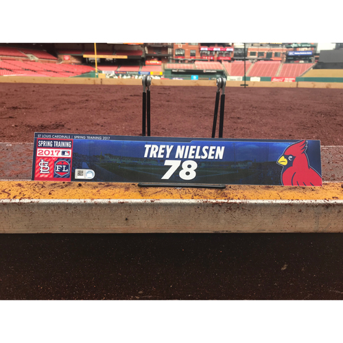 Photo of Cardinals Authentics: Trey Nielsen Team-Issued Spring Training Locker Tag
