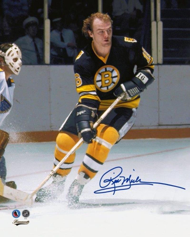 Rick Middleton Signed 8x10 Unframed Bruins
