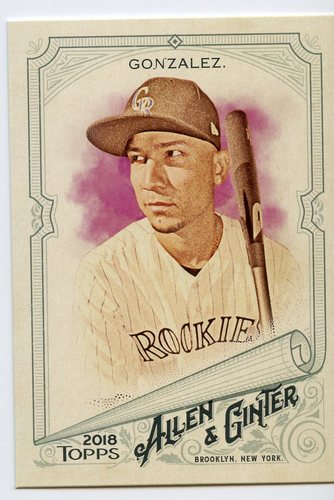 Photo of 2018 Topps Allen and Ginter #54 Carlos Gonzalez