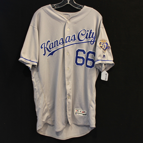 Photo of Game-Used Jersey: Ryan O'Hearn 24th Career Hit (Size 48 - 9/8/18 - KC @ MIN)