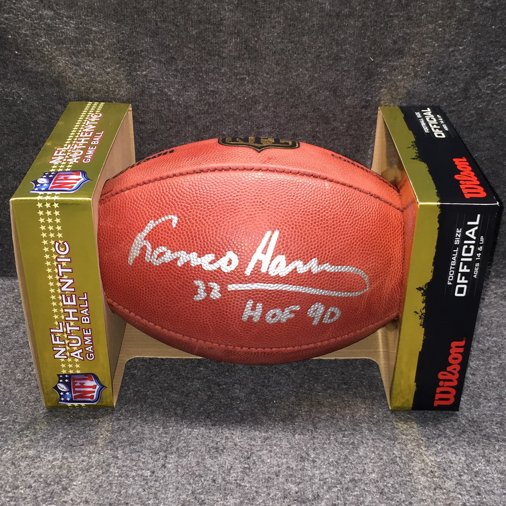 HOF - STEELERS FRANCO HARRIS SIGNED AUTHENTIC FOOTBALL