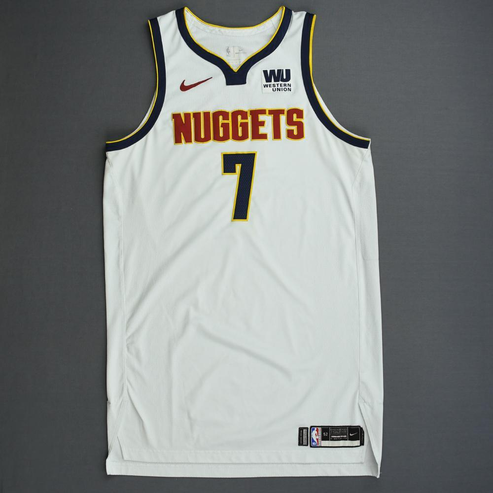 Trey Lyles - Denver Nuggets - 2019 NBA Playoffs - Game-Worn White Association Edition Jersey - Dressed, Did Not Play