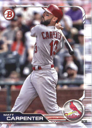 Photo of 2019 Bowman #74 Matt Carpenter