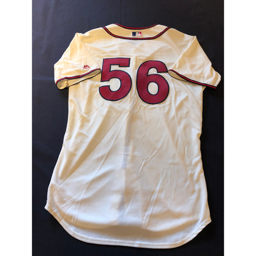 J.R. House -- Game-Used 1935 Throwback Jersey and Pants -- Rangers vs. Reds on June 15, 2019 -- Jersey Size 46 / Pants Size 36-40-16