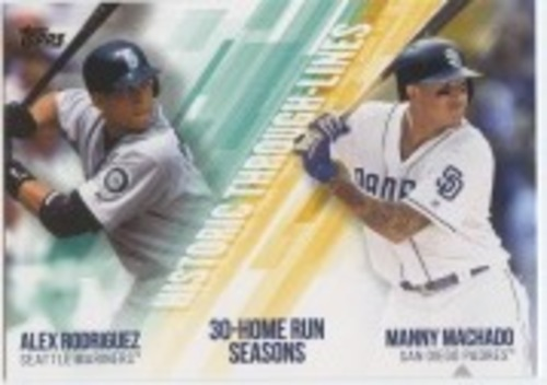 Photo of 2019 Topps Historic Through Lines #HTL14 Manny Machado/Alex Rodriguez