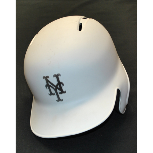 "Photo of Tomas ""NEEDZ"" Nido New York Mets Game-Used 2019 Players' Weekend Helmet"