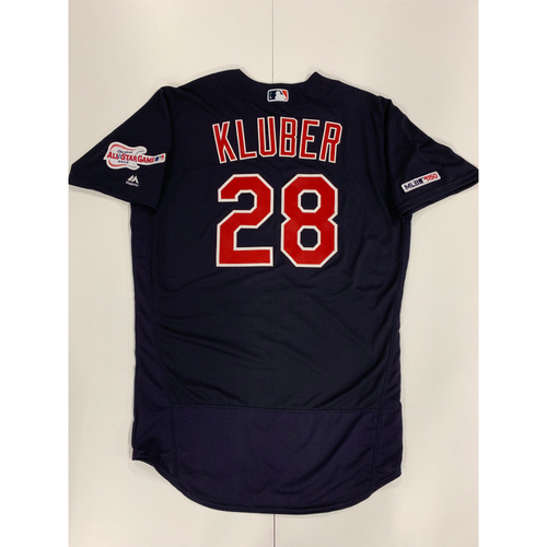 Photo of Corey Kluber 2019 Team Issued Alternate Road Jersey