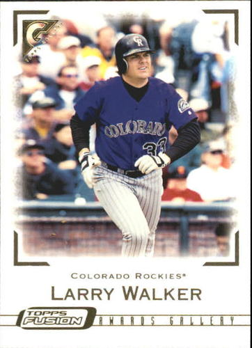 Photo of 2001 Topps Fusion #143 Larry Walker GAL
