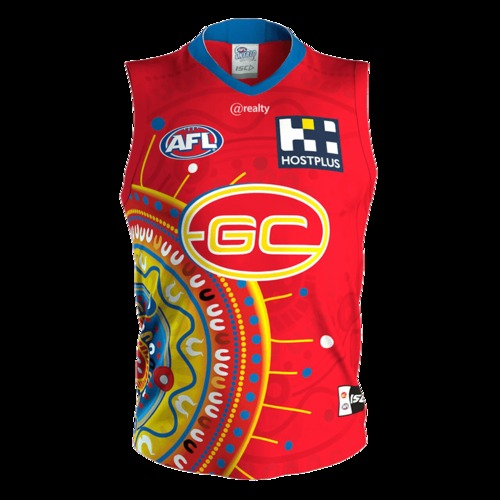 Photo of 2020 INDIGENOUS GUERNSEY - MATCH WORN BY CONNOR BUDARICK #35