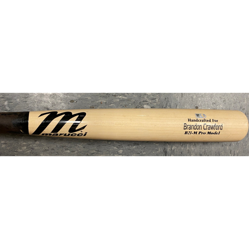 Photo of 2020 Cyber Monday Sale - #35 Brandon Crawford 2020 Game Used Broken Bat used on 9/25 Game 2 vs. SD - T-6: Dan Altavilla to Brandon Crawford - Fly Out to RF