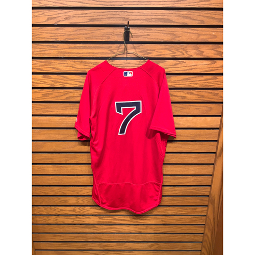 Photo of Christian Vazquez Team Issued 2017 Home Alternate Jersey