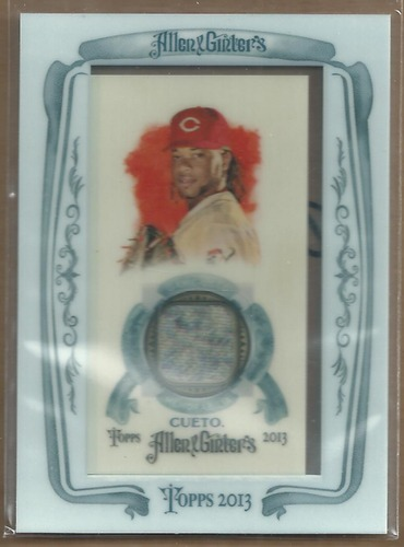 Photo of 2013 Topps Allen and Ginter Framed Mini Relics #JC Johnny Cueto