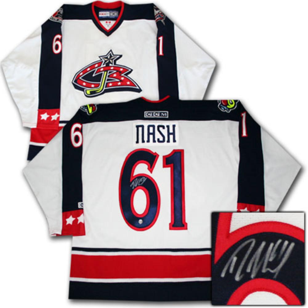 lowest price 3ec08 4d5bb Rick Nash Autographed Columbus Blue Jackets Jersey - NHL ...