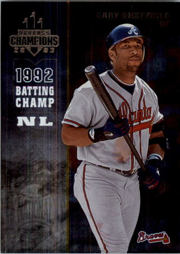 Photo of 2003 Donruss Champions Metalized #21 Gary Sheffield