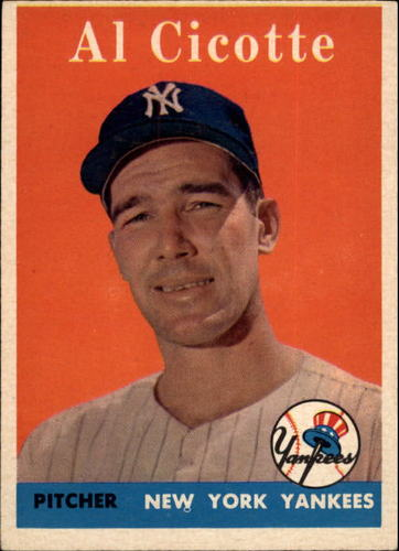 Photo of 1958 Topps #382 Al Cicotte