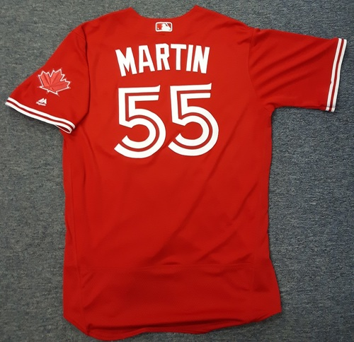 Authenticated Team Issued Jersey - #55 Russell Martin (2017 Season). Size 46.