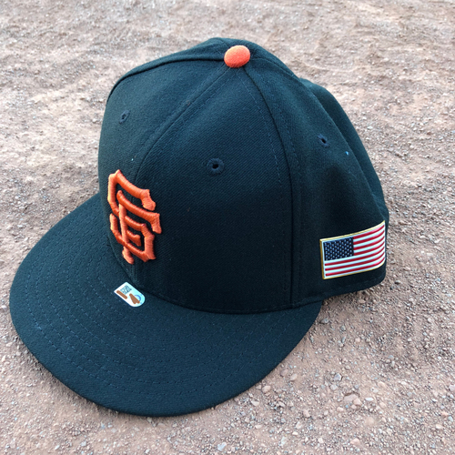 Photo of San Francisco Giants - 2017 Game-Used 9/11 Cap Worn by #49 Sam Dyson - Size 7 3/8