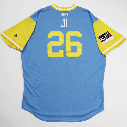 "Photo of Ji-Man ""JI"" Choi Tampa Bay Rays Game-Used 2018 Players' Weekend Jersey"