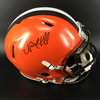 NFL - BROWNS RB NICK CHUBB SIGNED BROWNS REVOLUTION HELMET