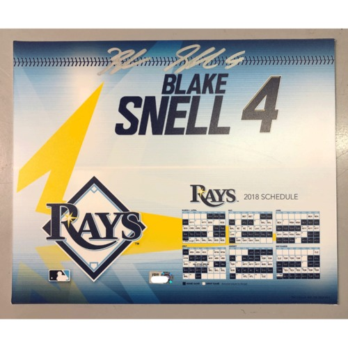 Photo of Game-Used Autographed Locker Tag: Blake Snell - CY Young Season