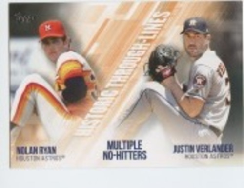 Photo of 2019 Topps Historic Through Lines #HTL17 Justin Verlander/Nolan Ryan