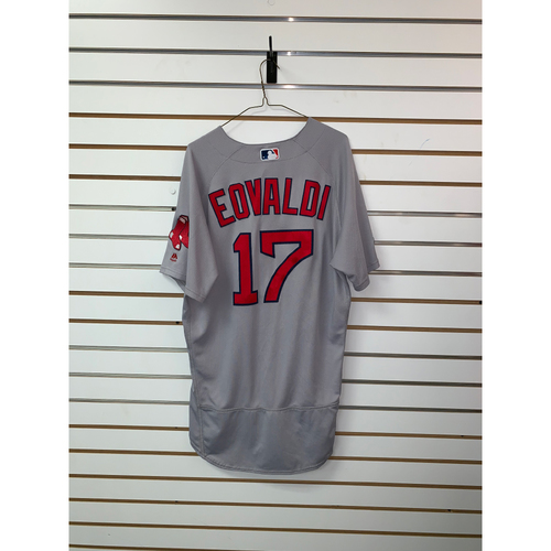 Nathan Eovaldi Game Used October 16, 2018 Road Jersey - 1st Inning Only