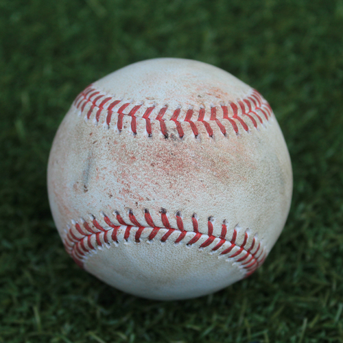 Photo of Game-Used Baseball: Jakob Junis Pitched Strikeout to Kyle Tucker (9/15/19)