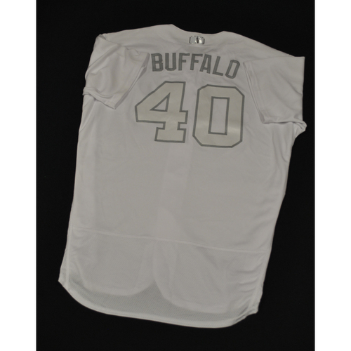 "Photo of Wilson ""BUFFALO"" Ramos New York Mets Game-Used 2019 Players' Weekend Jersey"