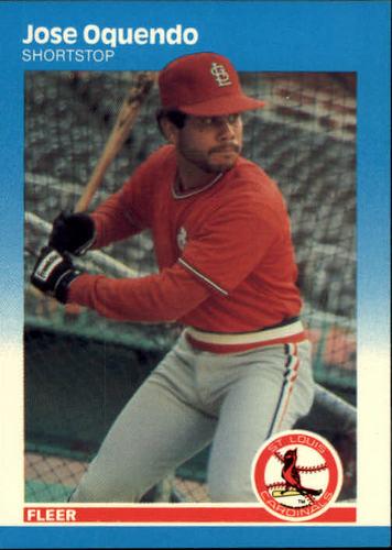 Photo of 1987 Fleer #305 Jose Oquendo