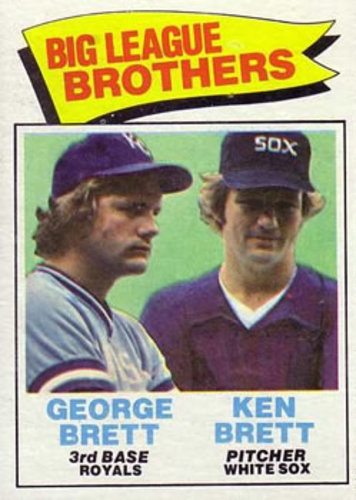 Photo of 1977 Topps #631 Brothers/George Brett/Ken Brett