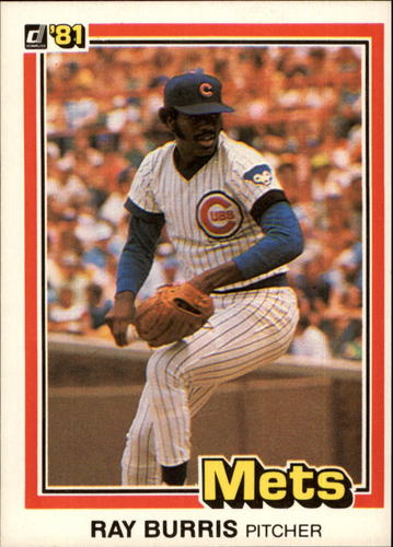 Photo of 1981 Donruss #524A Ray Burris P1/Career Highlights:/Went on ...~