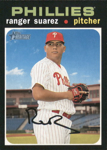 Photo of 2020 Topps Heritage #156 Ranger Suarez