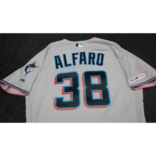Photo of Game-Used 2019 Jersey: Jorge Alfaro #38 - Size 44 (Used 9/15/2019)