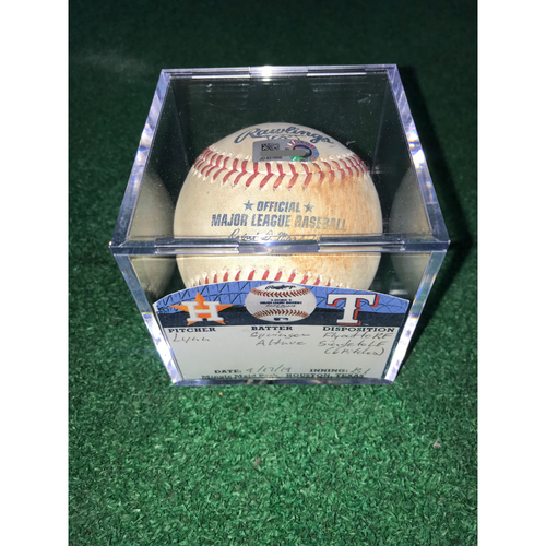 Photo of Game-Used Baseball: Jose Altuve Single and George Springer Fly Out from 9/17/19 vs TEX