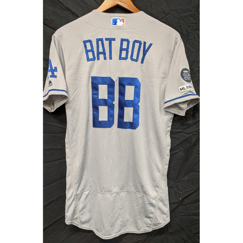 Photo of Team-Issued 2019 Dodgers Road Bat Boy Jersey (Size 40)