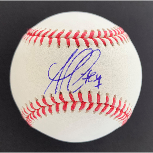 Photo of Ozzie Albies MLB Authenticated Autographed Baseball